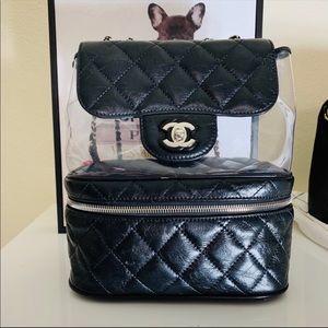 0a1ced406426 CHANEL PVC Crumpled Calfskin Shoulder Bag